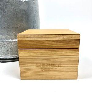 Shinola Detroit Wooden Watch Box Empty 5.25 x 5.25